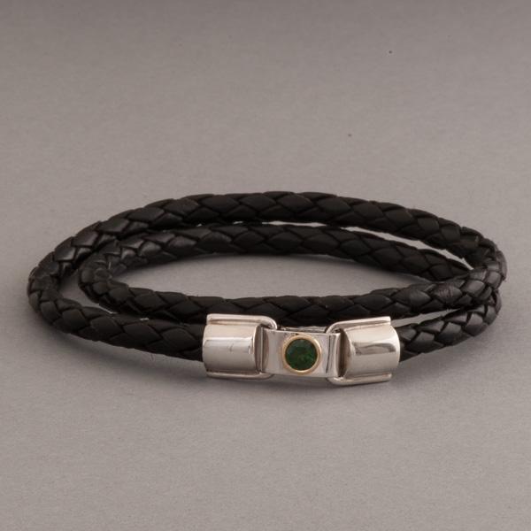 Lederarmband verschluss  Lederarmband mit Verschluss aus Silber mit Turmalin – Botho Nickel