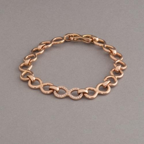 Armband aus 750/000 Rosegold, 1 Element mit Brillanten im Verschnitt ausgefasst