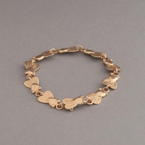 Armband aus 18 Karat Gold mit Fliegen