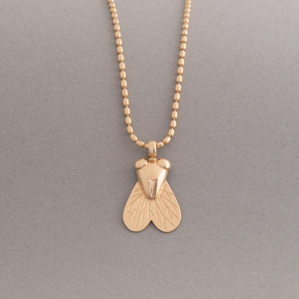 Goldkette mit Fliege