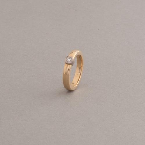 Ring 18 Karat Gold mit Brillant