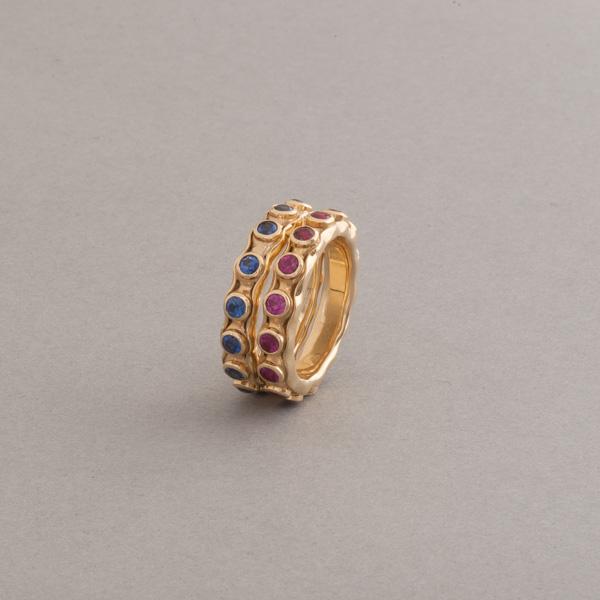 Ringkombination aus 18 Karat Gold