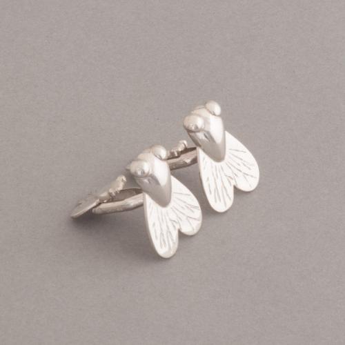 Manschettenknöpfe Fliege aus 925/000 Silber