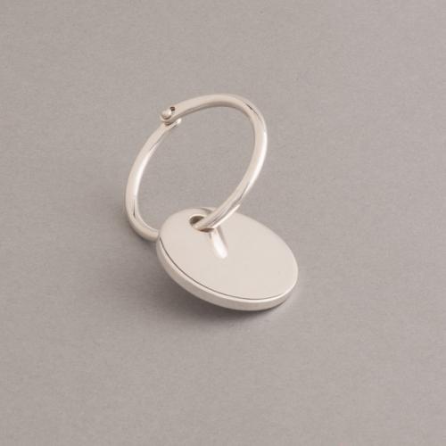 Schlüsselring mit Anhänger Gravurplättchen 35mmx3mm aus 925/000 Silber (inkl. Gravur)