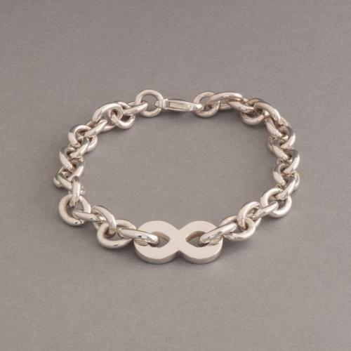 Armband aus Silber mit liegender acht