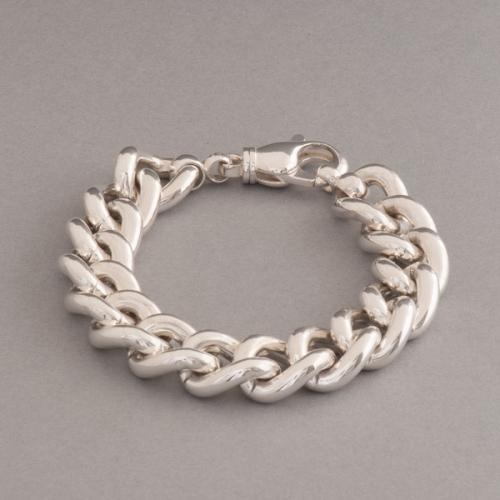 Armband aus Silber Panzer oval