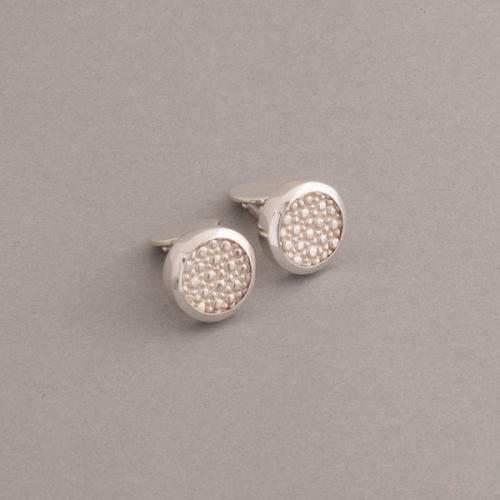 Silbermanschettenknöpfe aus Silber Rochen