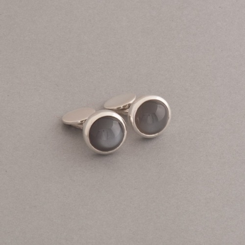 Manschettenknöpfe aus Silber mit Mondstein