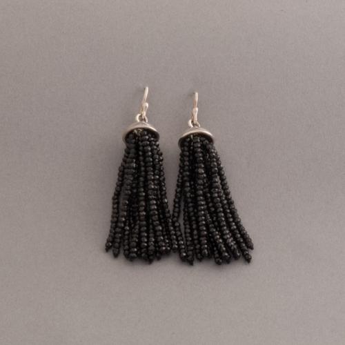 Ohrringe aus Silber mit Onyx
