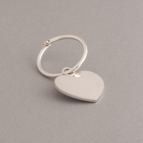 Silberschlüsselring mit Herz