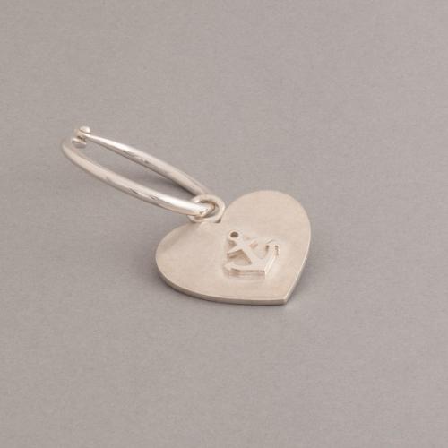 Silberschluesselring mit Herzanhaenger