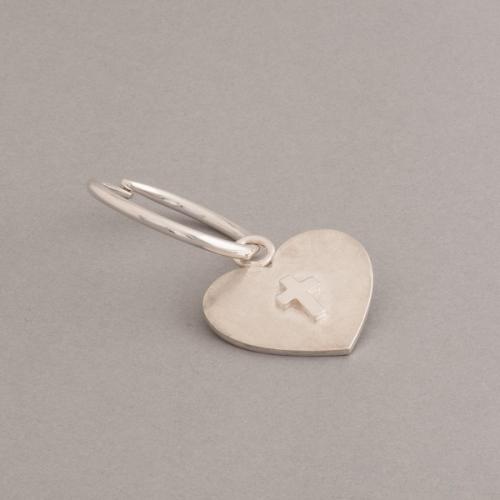 Silberschlüsselring mit Anhänger Herz