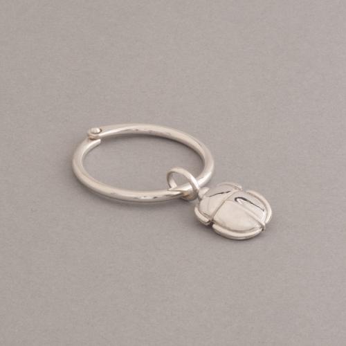 Schlüsselring mit Anhänger aus Silber