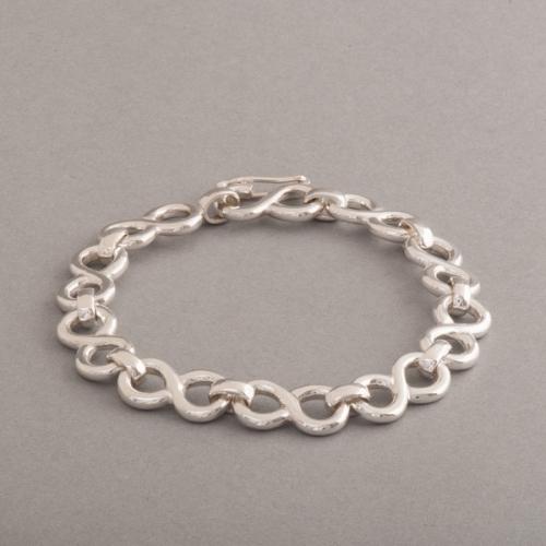 Armband aus Silber Symbol der Unendlichkeit