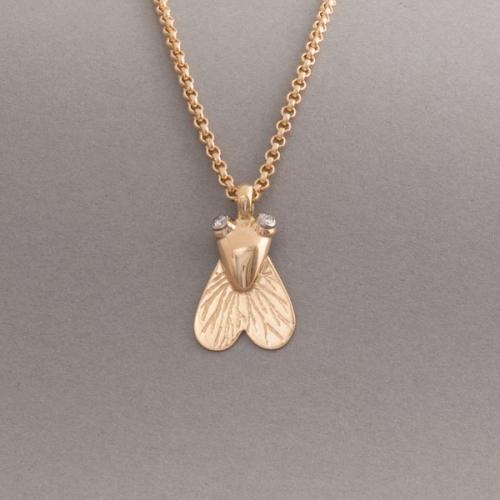 Kette aus 18 Karat gold Brillanten mit Fliege