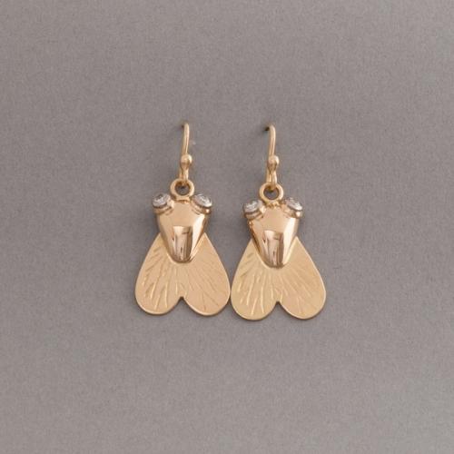 Ohrringe aus 18 Karat Gold mit Fliege