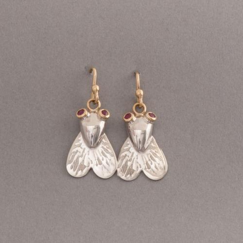 Silberohrring FliegeOhrring aus Silber Fliege
