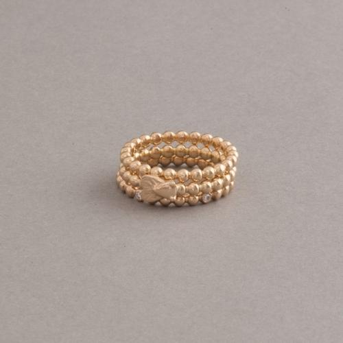 Ring aus 18 Karat Gold mit Fliege