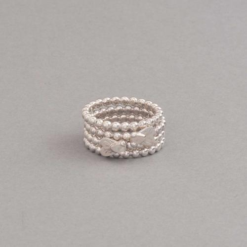 Ringe aus Silber Kügelchen mit Fliege, Botho Nickel Hamburg