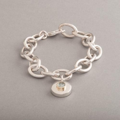 Armband aus Silber mit Aquamarin