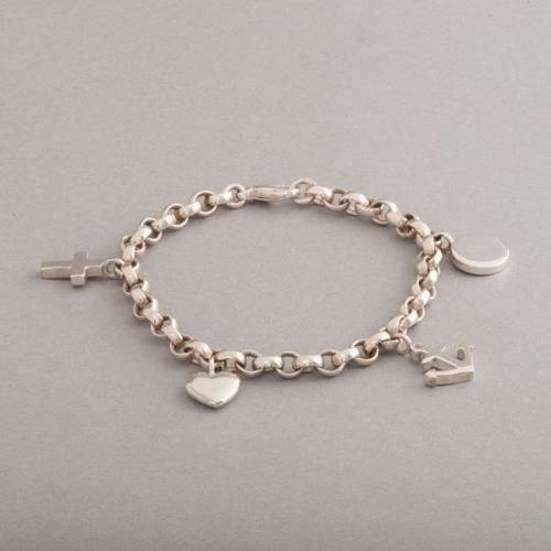 Armband aus Silber Glaube Liebe Hoffnung