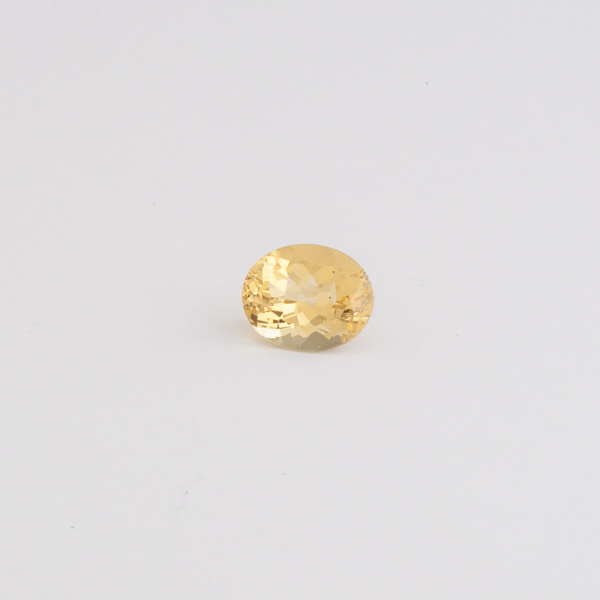 Edelstein Goldberyll oval facettiert, Botho Nickel Hamburg