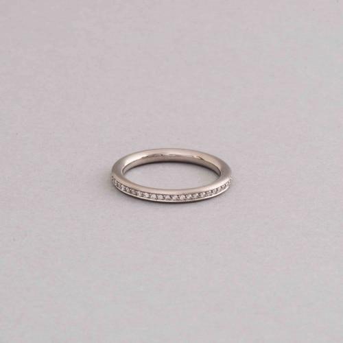 Ring aus 750/000 Weissgold mit Brillanten rundum im Verschnitt gefasst