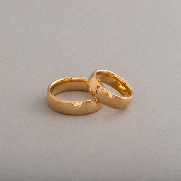 Ringe aus 18 Karat Gold 6 mm