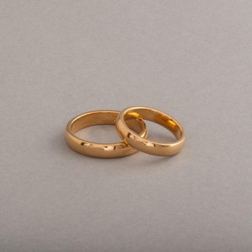 Trauringe aus 18 Karat Gold 5x2 mm