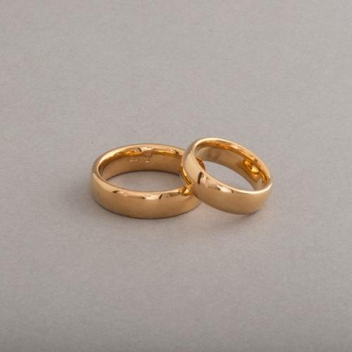 Trauringe aus 18 Karat Gold 5,5 x 2 mm