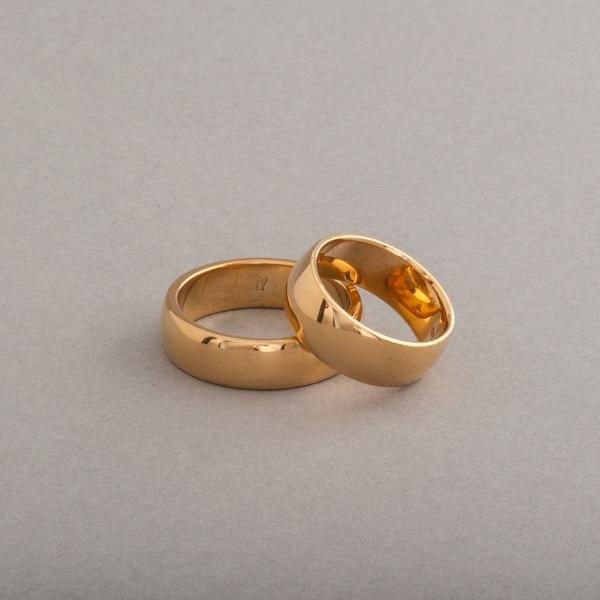 Trauringe aus 18 Karat Gold 6,5 x2,3 mm