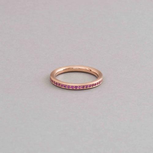Ring aus 750/000 Roségold mit pinken Saphiren