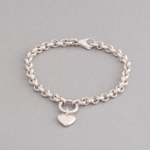 Armband aus Silber mit Herz