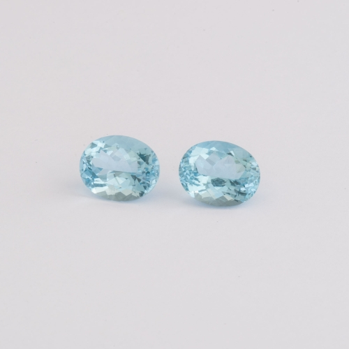 Edelsteine Aquamarine oval facettiert, Botho Nickel Hamburg