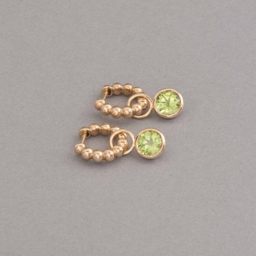 Kreolen aus 18 Karat Gold mit Peridot