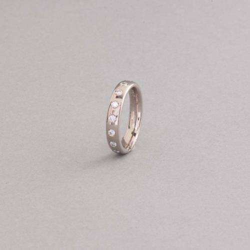 Ring aus 18 Karat Weißgold mit Brillanten, Botho Nickel Hamburg Juwelier, Goldschmiede, Gemmologe und Diamantgutachter