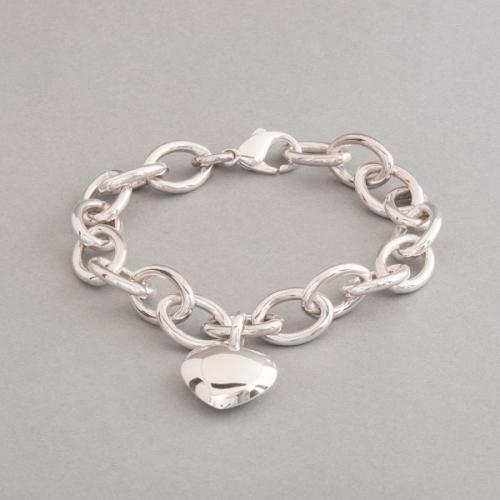 Armband aus Silber mit Herzanhänger, Botho Nickel Schmuck Hamburg