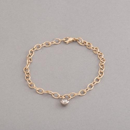 Armband aus 18 Karat Gold mit Brillant F Si1 , Botho Nickel Schmuck Hamburg