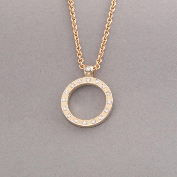 Kette aus 18 Karat Gold mit Brillanten, Juwelier und Goldschmiede Botho Nickel Schmuck Hamburg