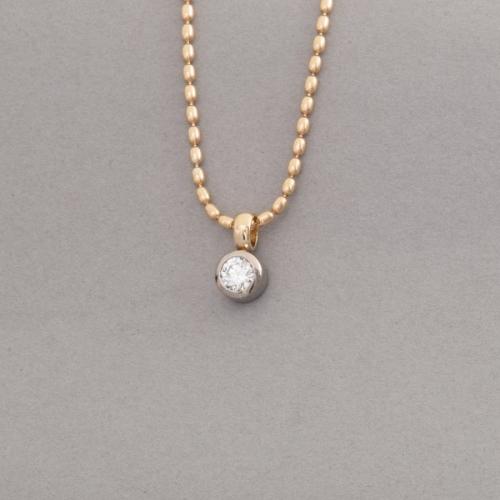 Kette aus 18 Karat Gold mit Brillant 0,45 ct. hochfeines weiss D Si1 ,Juwelier und Goldschmiede Botho Nickel Schmuck Hamburg