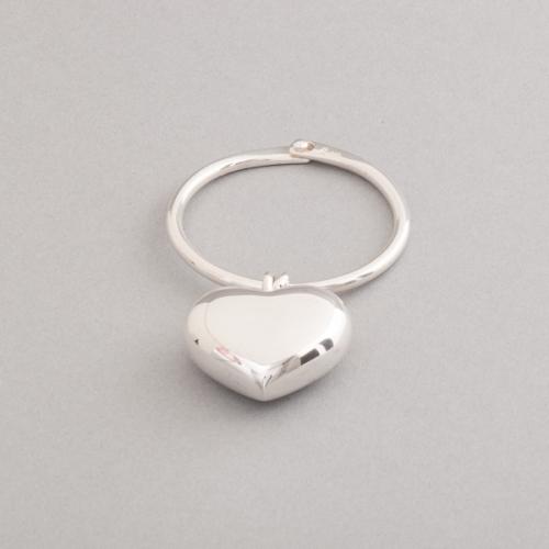 Schlüsselring aus Silber mit Herzanhänger, Juwelier und Goldschmiede Botho Nickel Schmuck Hamburg