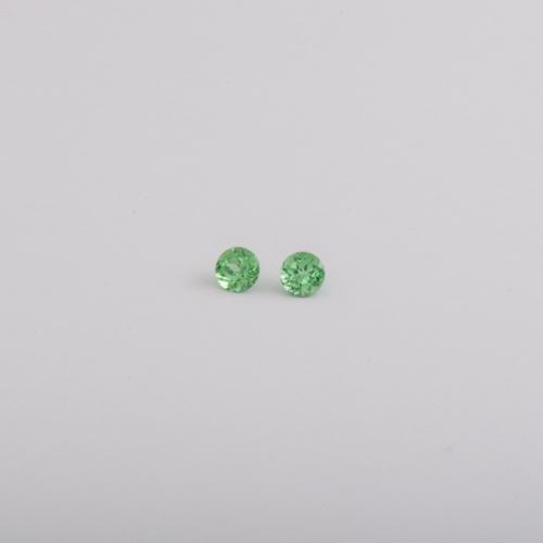 Edelsteine Tsavorithe rund facettiert Botho Nickel Schmuck Juwelier, Goldschmied, Gemmologe und Diamantgutachter