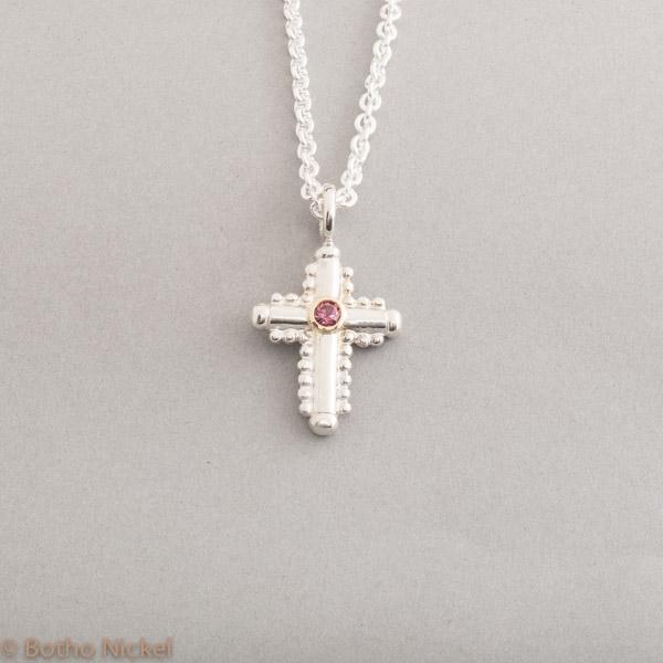 Kette aus Silber mit Rhodolith Goldschmiede Botho Nickel Schmuck Hamburg Juwelier, Goldschmiede, Gemmologe und Diamantgutachter