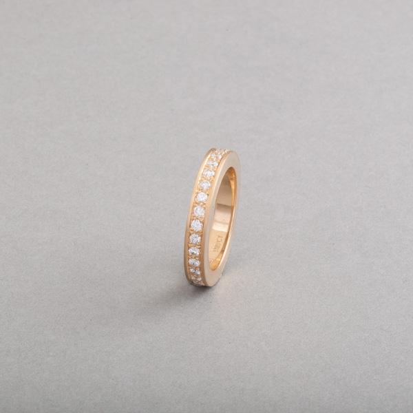 Ring aus 18 Karat Gold mit Brillanten im Verschnitt gefasst, Botho Nickel Schmuck Juwelier, Goldschmied,Gemmologe und Diamantgutachter