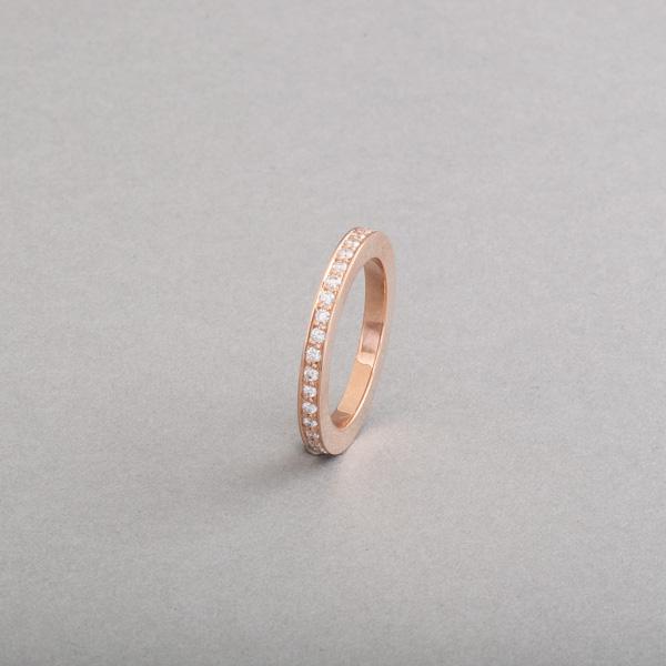 Ring aus 18 Karat Roségold mit Brillanten im Verschnitt gefasst, Botho Nickel Schmuck Juwelier, Goldschmied,Gemmologe und Diamantgutachter