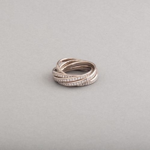 Ringe aus 18 Karat Weissgold mit Brillanten im Verschnitt gefasst, Botho Nickel Schmuck Hamburg Juwelier, Goldschmiede, Diamantgutachter und Gemmologe