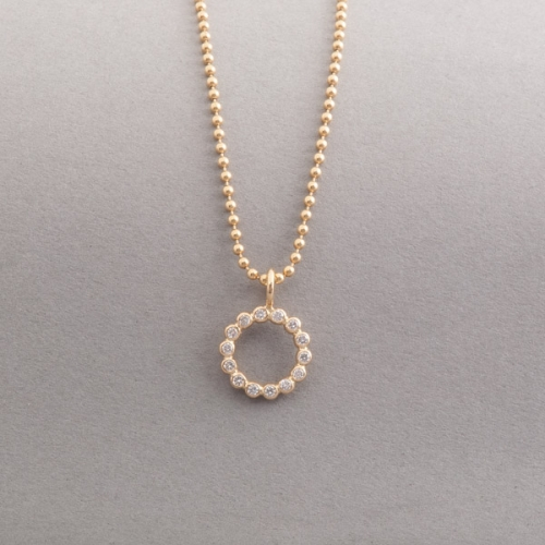 Kette aus 18 Karat Gold mit Brillanten, Botho Nickel Schmuck Hamburg, Juwelier, Goldschmiede, Gemmologe und Diamantgutachter