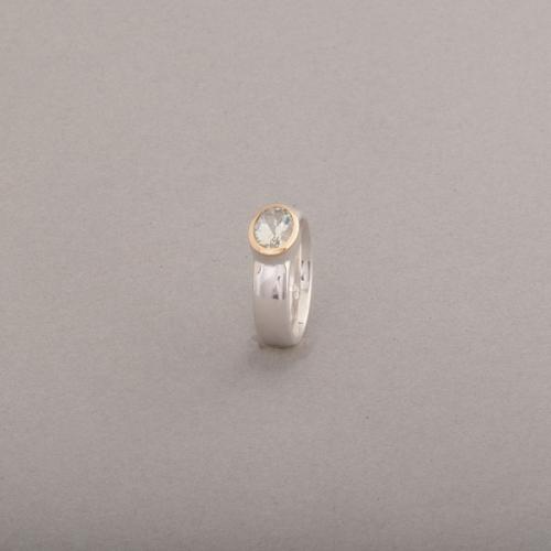 Ring aus Silber mit Prasiolith oval facettiert, Botho Nickel Schmuck Hamburg Juwelier, Goldschmiede, Gemmologe und Diamantgutachter