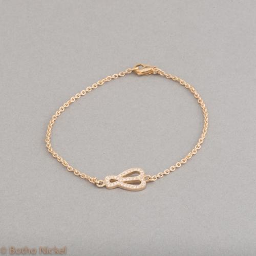 Armband aus 18 Karat Gold mit Brillanten, Goldschmiede Botho Nickel Schmuck Hamburg Juwelier, Goldschmiede, Gemmologe und Diamantgutachter