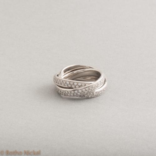 Ring aus 950er Platin mit Brillanten zus. 1,80ct , Goldschmiede Botho Nicke Schmuck Hamburg Juwelier, Goldschmiede Gemmologe und Diamantgutachter